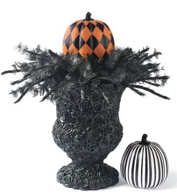 Decorate your front porch this fall with this Black Rose Urn!