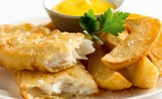Curtis Stone's fish and chips with homemade tartare sauce