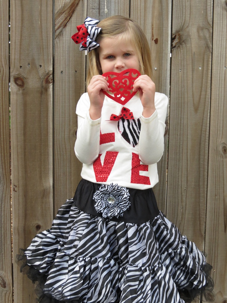 Girls Valentines Shirt by Polkatotboutique on Etsy, $19.99