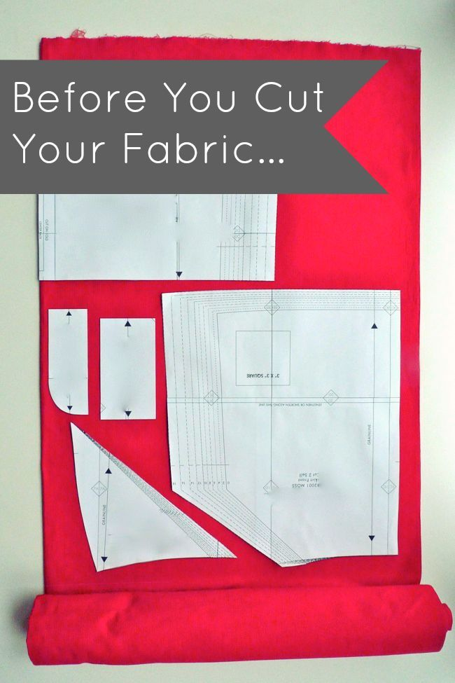 Before you cut your fabric beginner sewing tips