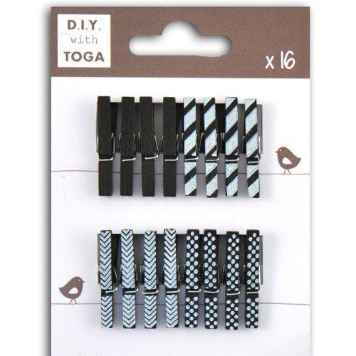 Mini clothespins - black