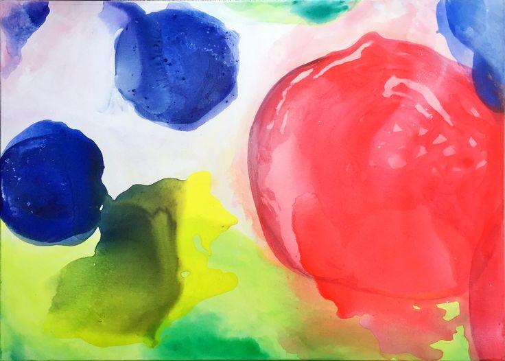 Marimekko Midsummer Chant Inspiration I 2018/01 acrylic paint