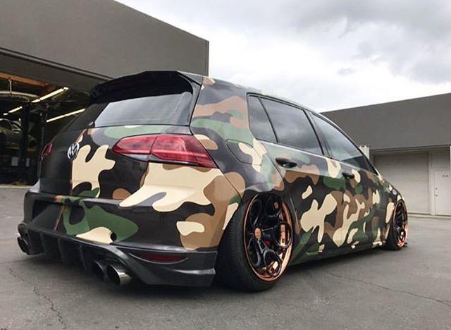 Nice Camo Wrap Follow Maxrace21 Wrap Vw Golfr Golfmk7 Vwgti