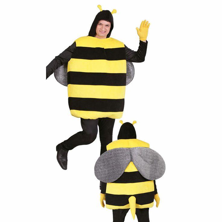 Probablemente uno de los animales más graciosos de todo nuestro catálogo. Este disfraz de abejorro está llamado a triunfar gracias a sus llamativos colores, el relleno del disfraz y su precio tan atractivo. Ideal para el novio en su despedida de soltero. #carnaval2014 #disfraces