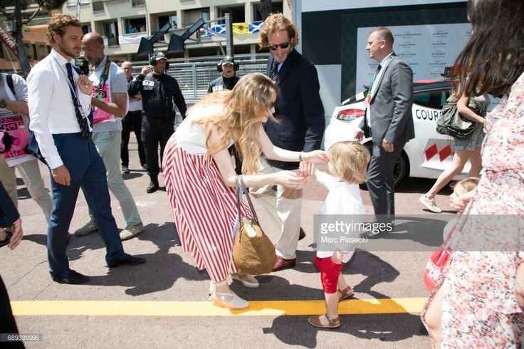 Pierre Casiraghi, Beatrice Borromeo, Andrea Casiraghi, Alexandre Andrea Stefano Casiraghi, India Casiraghi and Tatiana Santo Domingo attend the Monaco Formula 1 Grand Prix at the Monaco street circuit, on May 28, 2017 in Monaco.