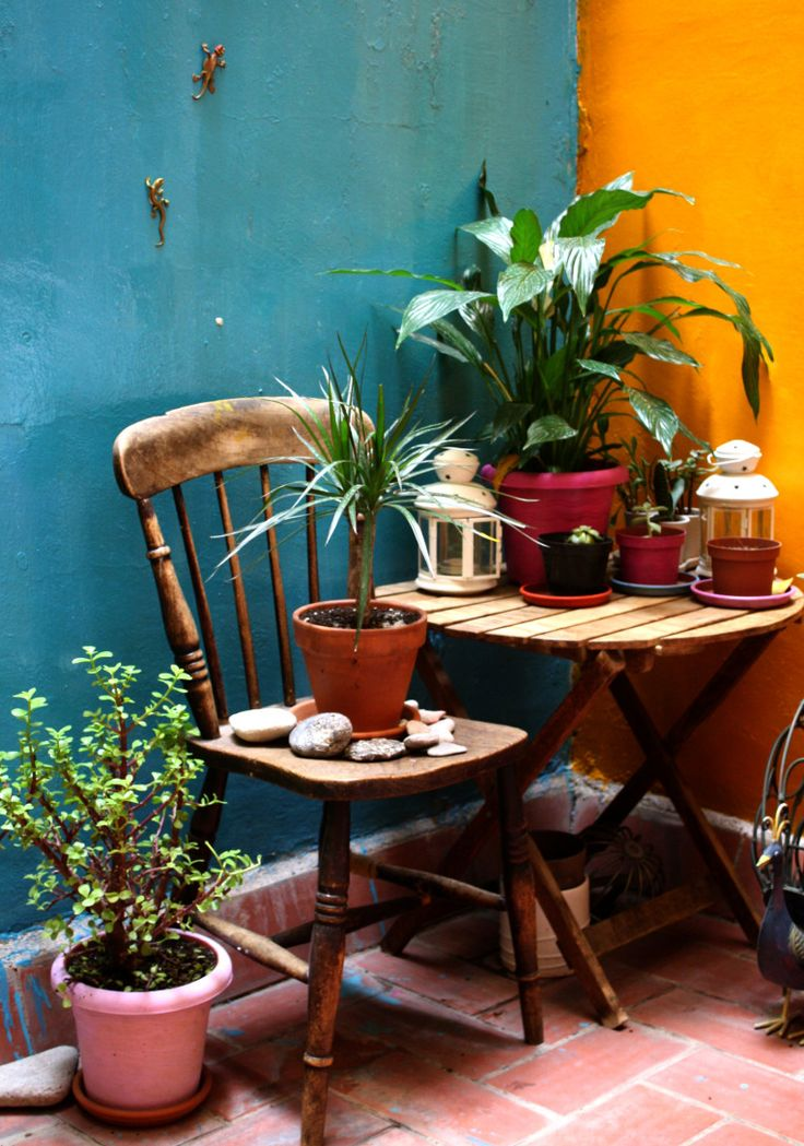 mexican colors | Mexican kitchen decor, Mexican style ... on Mexican Backyard Decor  id=80397