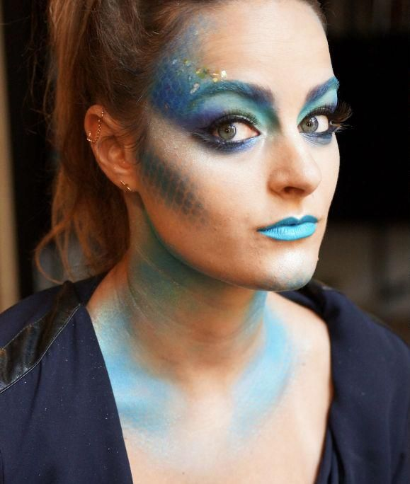 maquillage sirène facile à faire avec produits déjà dans la trousse