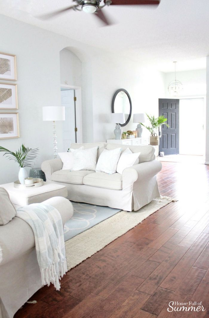 Serene Coastal Chic Foyer Refresh With Images Home Decor Home