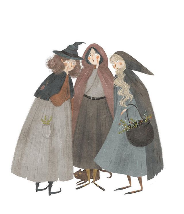 Taryn Knight  @taryndraws Three witches who...Instagram photo | Websta (Webstagram)