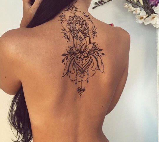 Credit At Tattoosaddict On Twitter Rücken Tattoo Pinterest