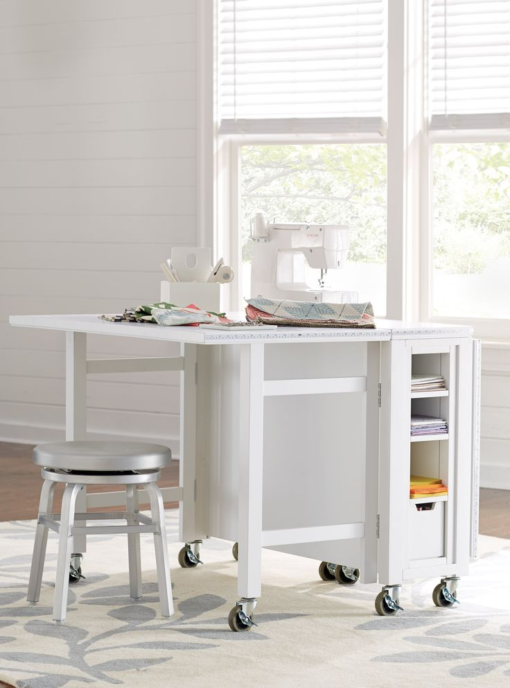Delightful It Rolls, It Collapses And It Stores With Ease. This Craft Table Give You