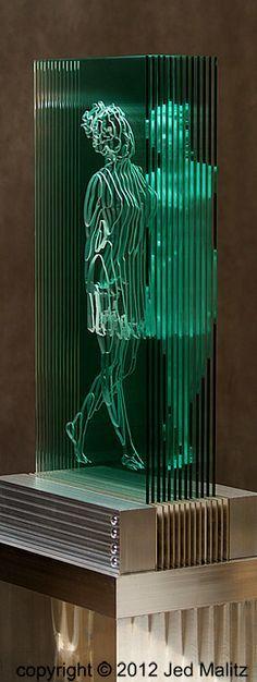 Cascade, a glass sculpture designed by Sergio Redegalli for the Botanic Garden in Adelaide, Australia - Google Search