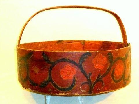Vintage Swedish bread basket.  Original paint - Ryder Antiques