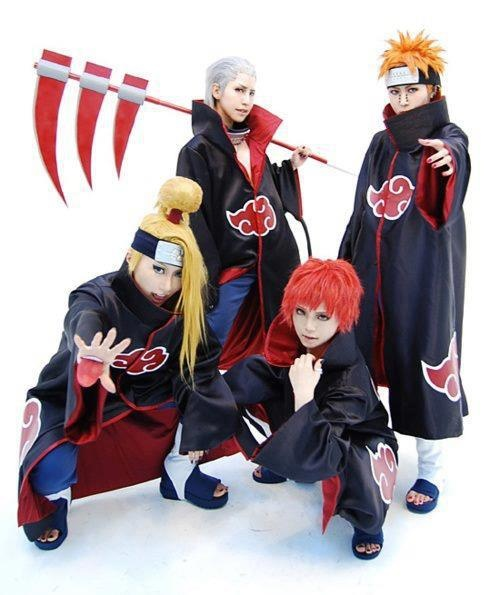 Akatsuki cosplay (Deidara, Hidan, Sasori, and Pain)