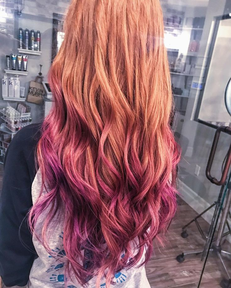 Purple Haze On Natural Red Hair We Are Want To Say Thanks If You Like To Share This Post To Another People Via Dyed Red Hair Natural Red Hair Ombre Hair