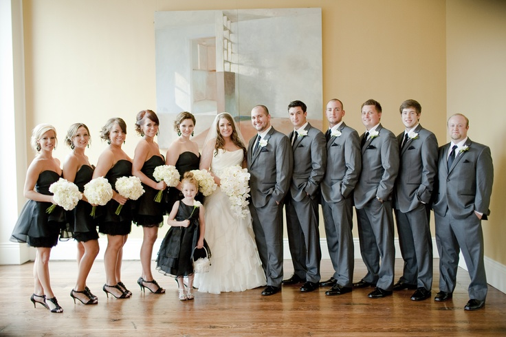 Black And Grey Bridal Party Colors