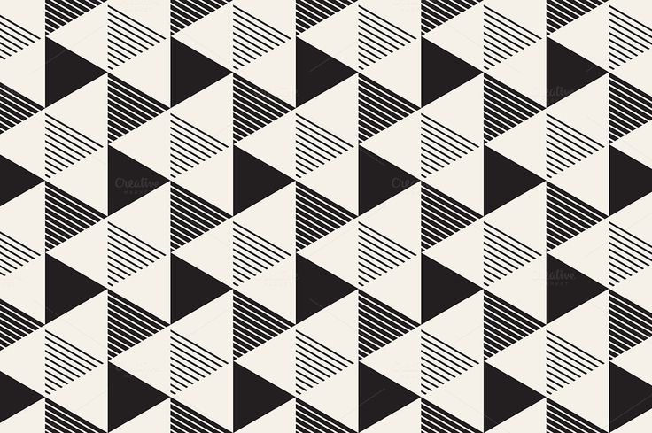 Triangles. Seamless Patterns Set 9 by Curly_Pat on @creativemarket