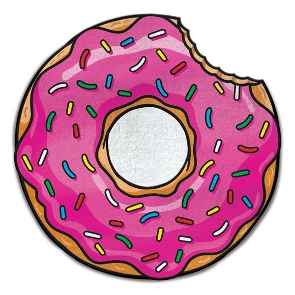 Big Mouth Toys Donut Microfiber Beach Blanket (655 UAH) ❤ liked on Polyvore featuring home, bed & bath, bedding, blankets, pink, pink bedding, micro fiber blanket, microfiber blankets, pink blanket and microfiber bedding