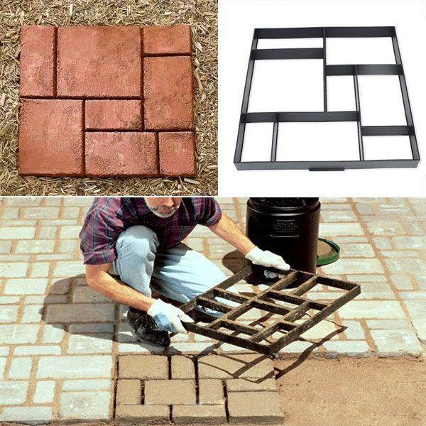 51cm Garden DIY Plastic Path Maker Model Road Paving Cement Mould Brick Stone Road sale € 21,83