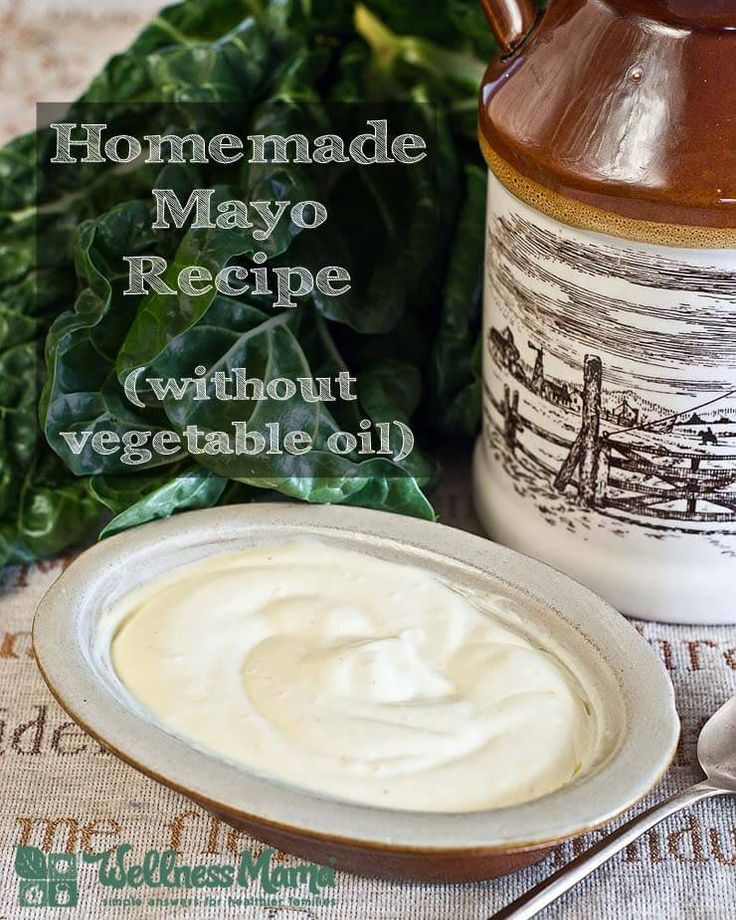 A simple, all-natural, vegetable oil-free homemade mayonnaise that tastes great in chicken salad and in salad dressings!