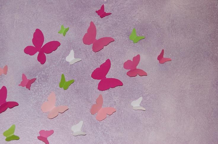 Cardboard butterflies for wall..