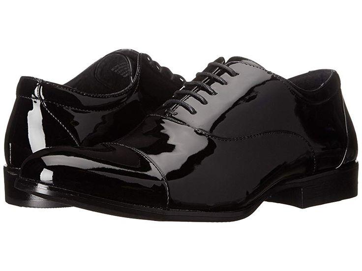 Stacy Adams Gala Cap Toe Oxford Men's Lace Up Cap Toe Shoes Black Patent