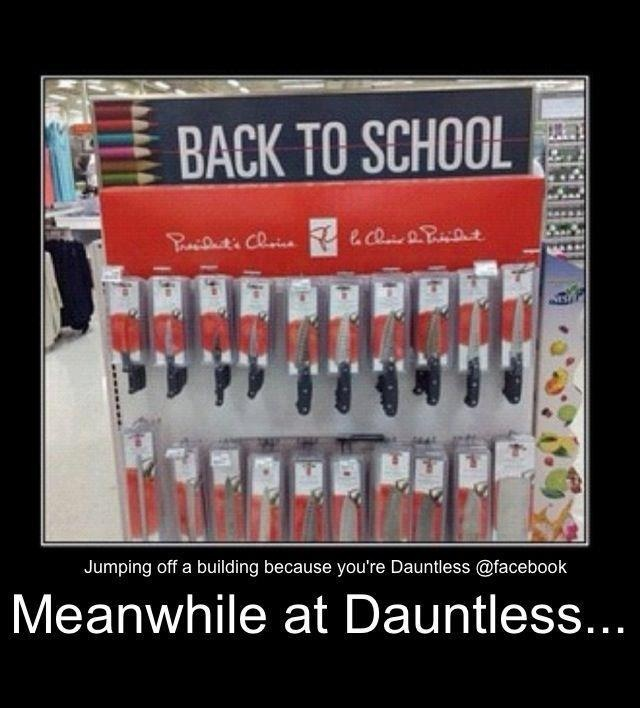 back to school knives, only at dauntless
