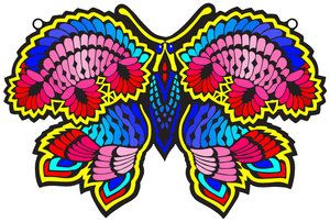 Painted Butterfly Rope fuzzy posters!!