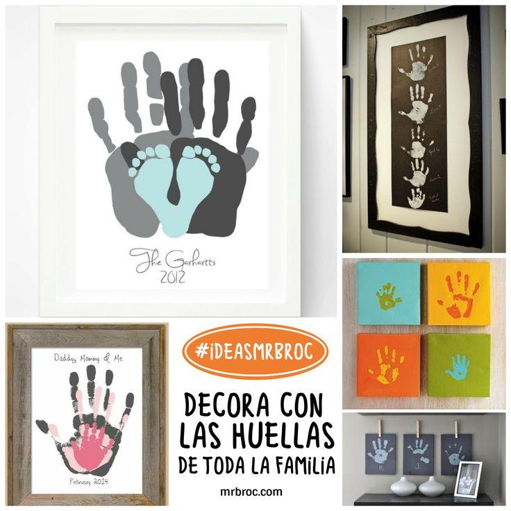 Huellas dactilares en familia - Idea MrBroc