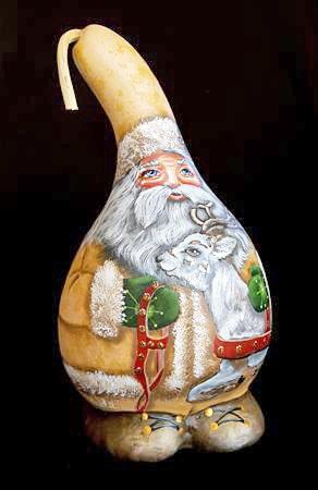 GOURD:  Reindeer Santa; Lola Stude