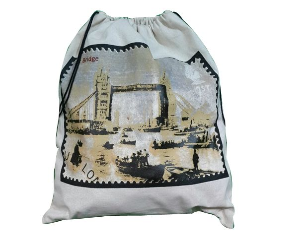 Cotton drawstring  bag also used as laundry bag. This bag is also used for daily use.
