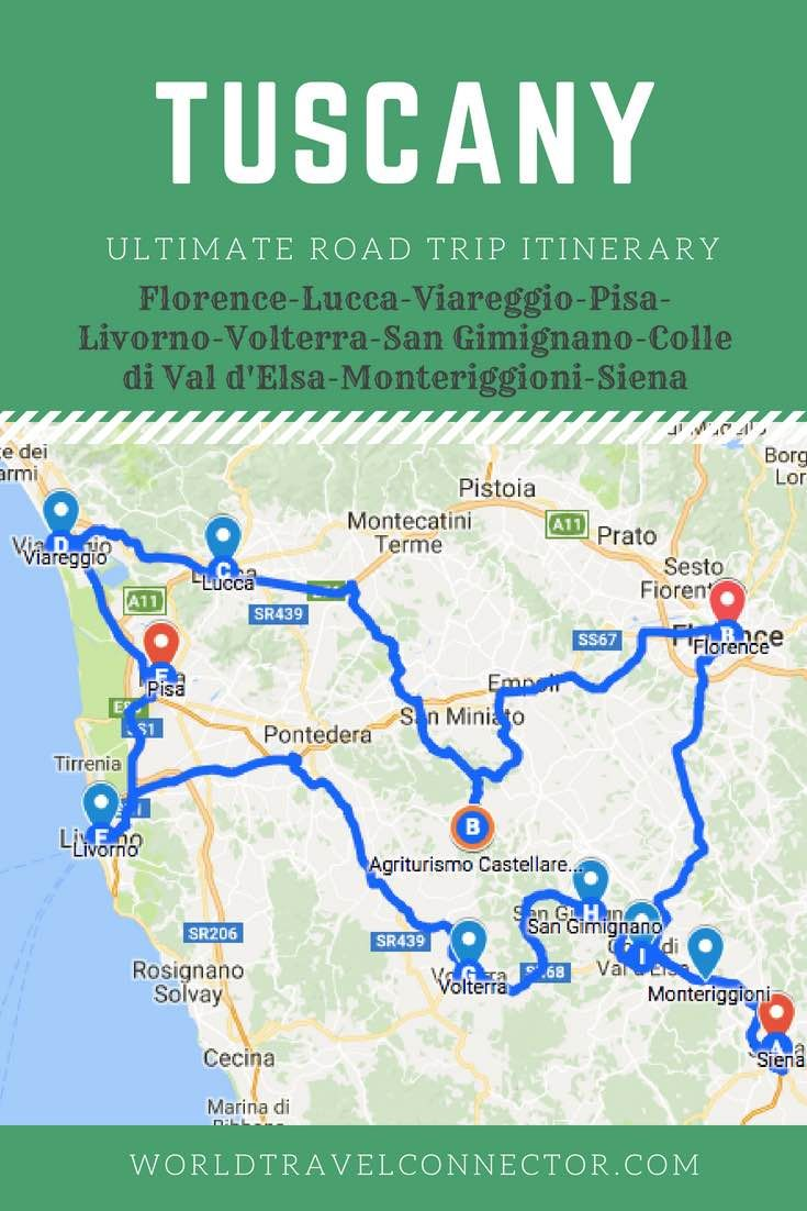Perfect Tuscany Road Trip Itinerary: The Best of Tuscany ...