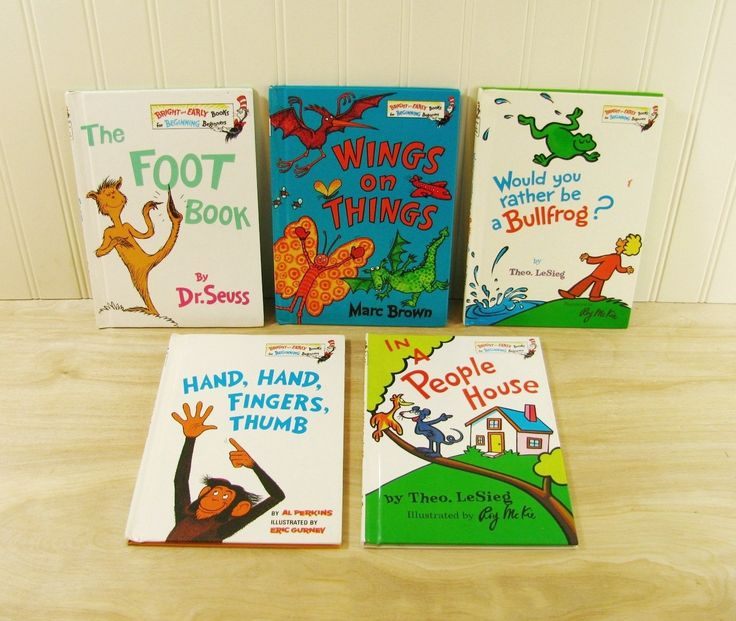 Dr Seuss Library Bright and Early Books The Foot Book Dr Seuss Book Set Early…