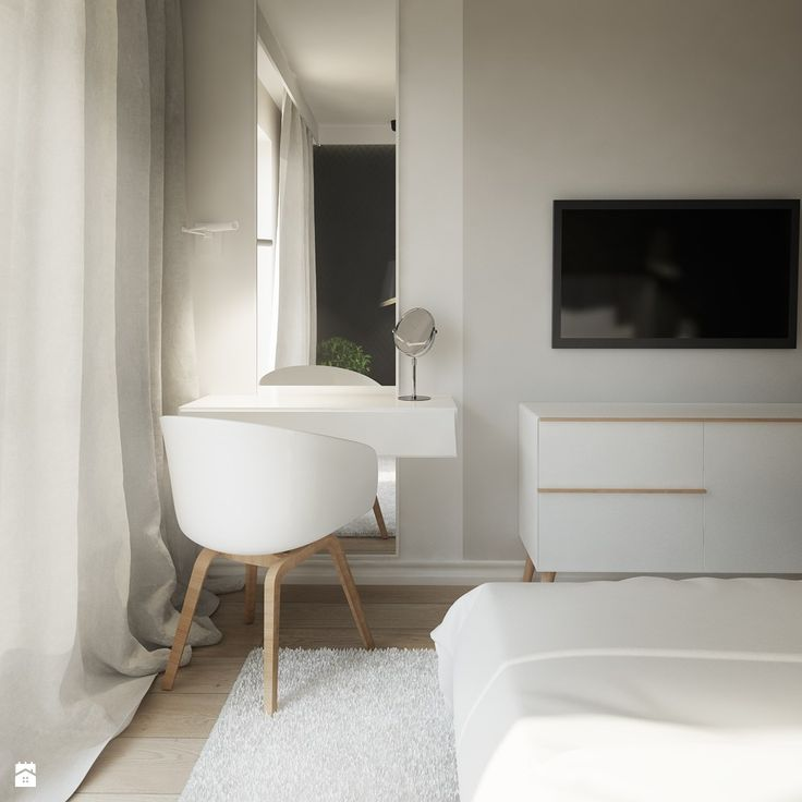Toaletka w sypialni - zdjęcie od Karolina Krac architekt wnętrz - Sypialnia…