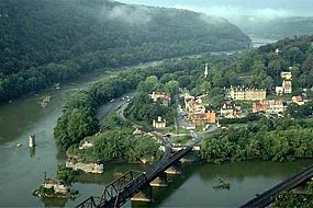 Harpers Ferry is located at the confluence of the Potomac and Shenandoah rivers in the states of West Virginia, Virginia, and Maryland.