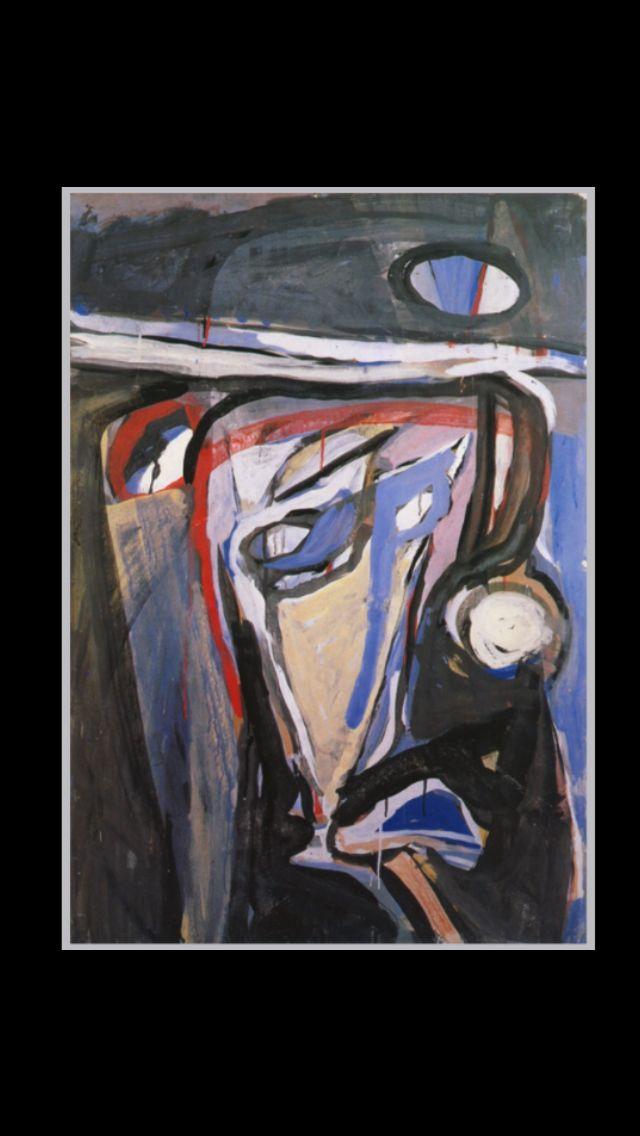 """Bram Van Velde - """" Sans titre """", Paris, Rue des Grands Augustins 1961 - Gouache sur papier - 112,5 x 77,5 cm"""