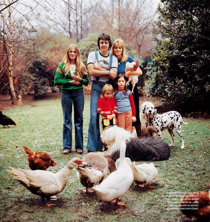 Paul Mccartney With His Family Paul Linda Mccartney