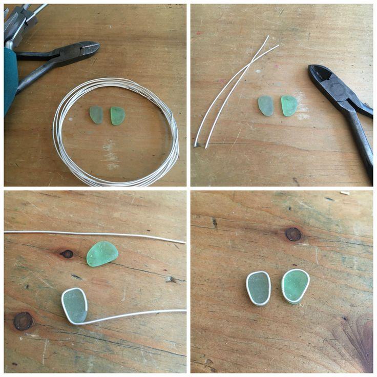 Art Jewelry Elements: Gelötete Seeglas-Ohrringe …