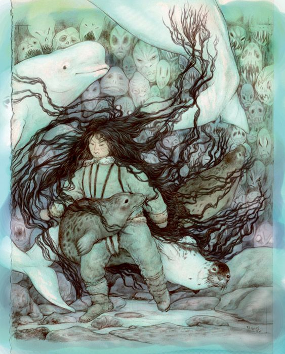 In Inuit mythology, Sedna (Inuktitut Sanna, ᓴᓐᓇ) is a deity and goddess of the marine animals, especially mammals such as seals.