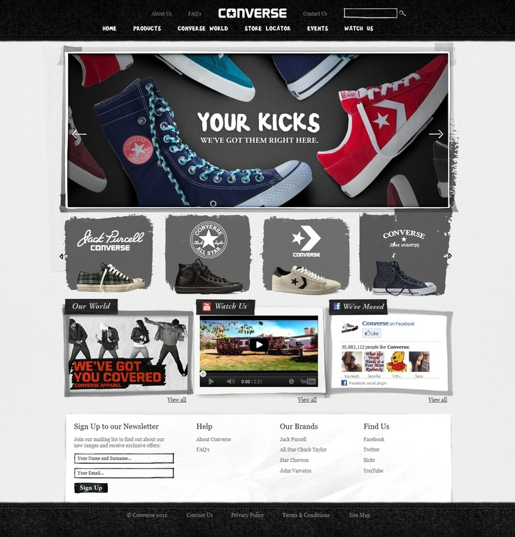 Everybody loves Converse, right? Bluegrass Digital built the new Converse South Africa website, it's pretty frikkin awesome, even if we have to say so ourselves :)
