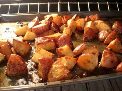 Honey Roasted Red Potatoes. Quick, Easy and sound delicious! Cut up 1 ...