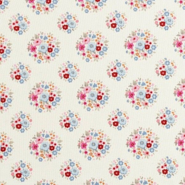 Tilda Sweetheart - Thula Red Pink £4 http://www.thehomemakery.co.uk/fabric/tilda-fabrics/sweetheart/tilda-sweetheart-thula-red-pink
