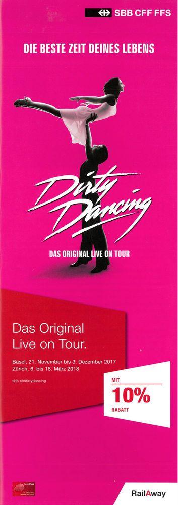 DIRTY DANCING - DAS ORIGINAL ON TOUR - 2017/18 - ORIGINAL FLYER - KEIN TICKET | eBay