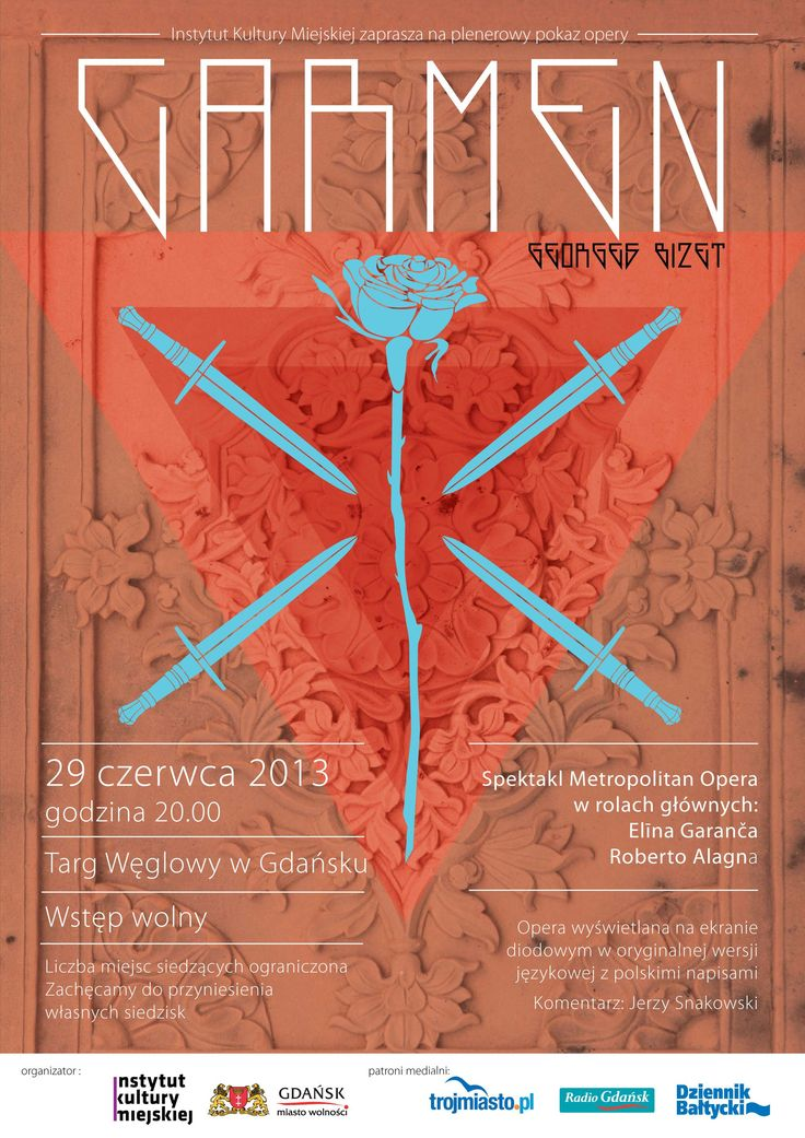 """""""Carmen"""" - plenerowy pokaz opery / 'Carmen' - outdoor screening of the opera, Projekt/Design: Projekt Mleko"""