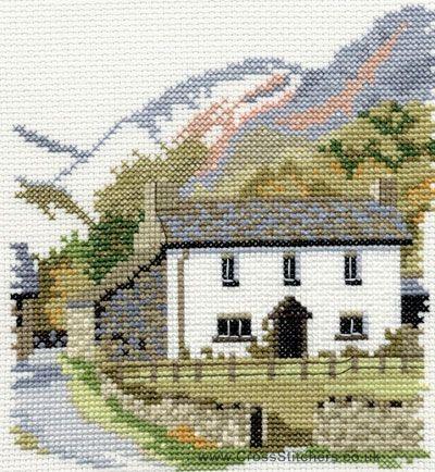 Yew Tree Farm Cross Stitch Kit from Derwentwater Designs