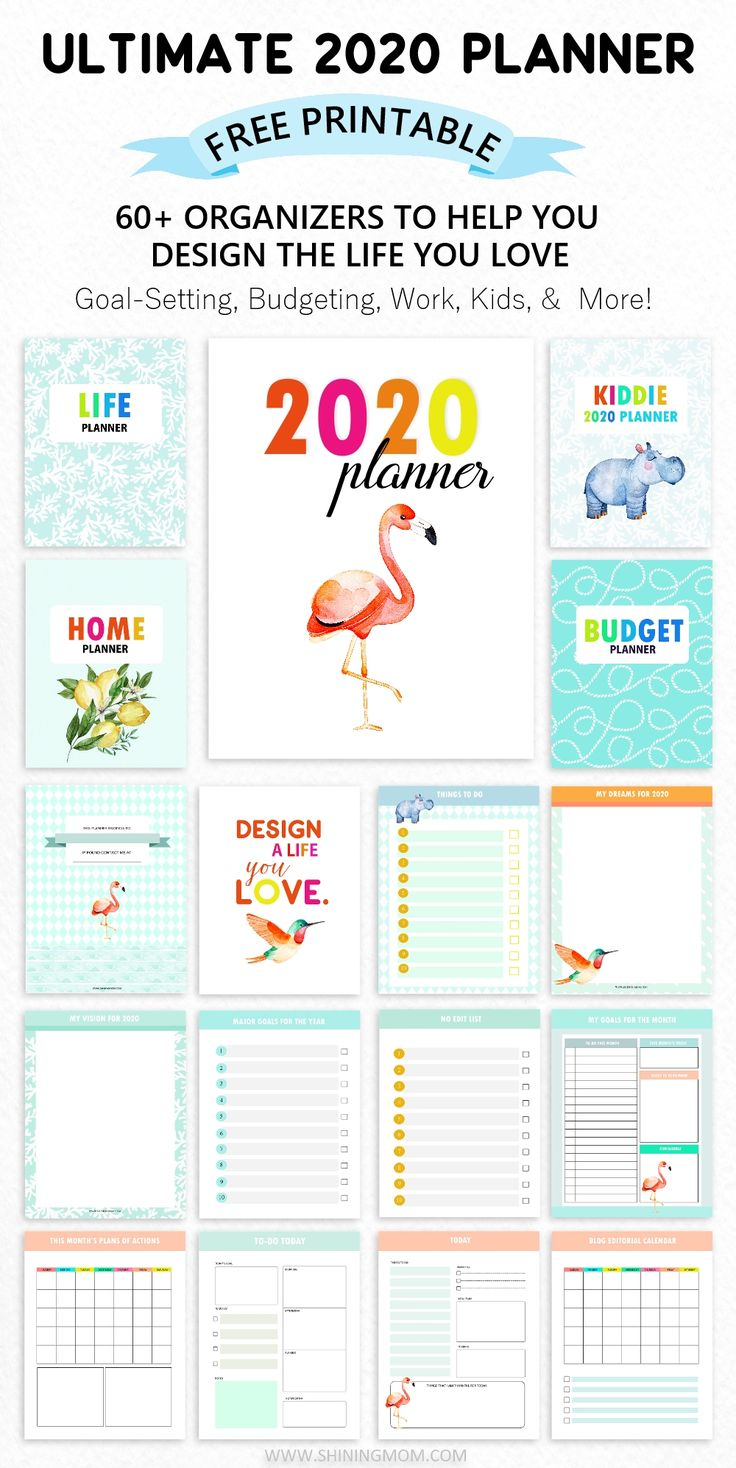 FREE Planner 2020: Design a Life You Love- 60 Printables!