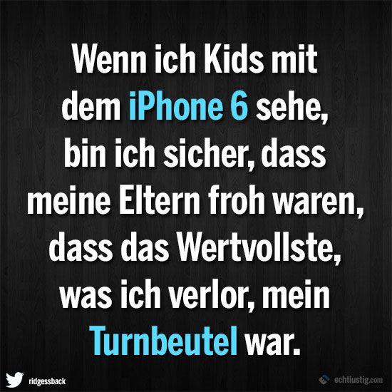 Wenn ich Kids mit dem iPhone 6 sehe | Dressed Like Machines