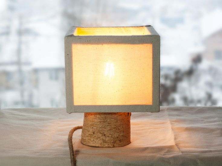 Birch wood lamp shade   #Birch #WoodenLamp #Tablelamp #Lampshade #Ledwood #lamps #DeskLamp #Cottonshade #Rustic #RusticLamp #Retro #WoodLamp