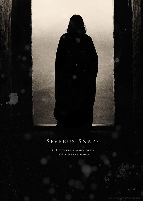 Severus Snape. Harry Potter. This actually teared me up a little bit. @Heatherann Whistin