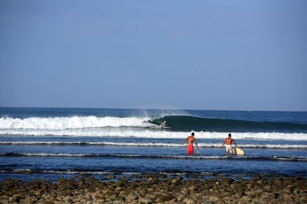 Surfing spot, west coast, Troncones, Ixtapa, Zihuatanejo, Guerrero, Mexico